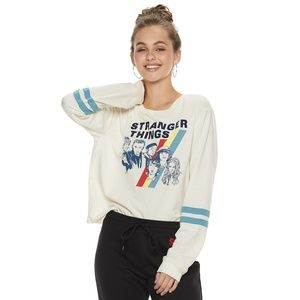 New! Stranger Things Long Sleeve Football T-Shirt